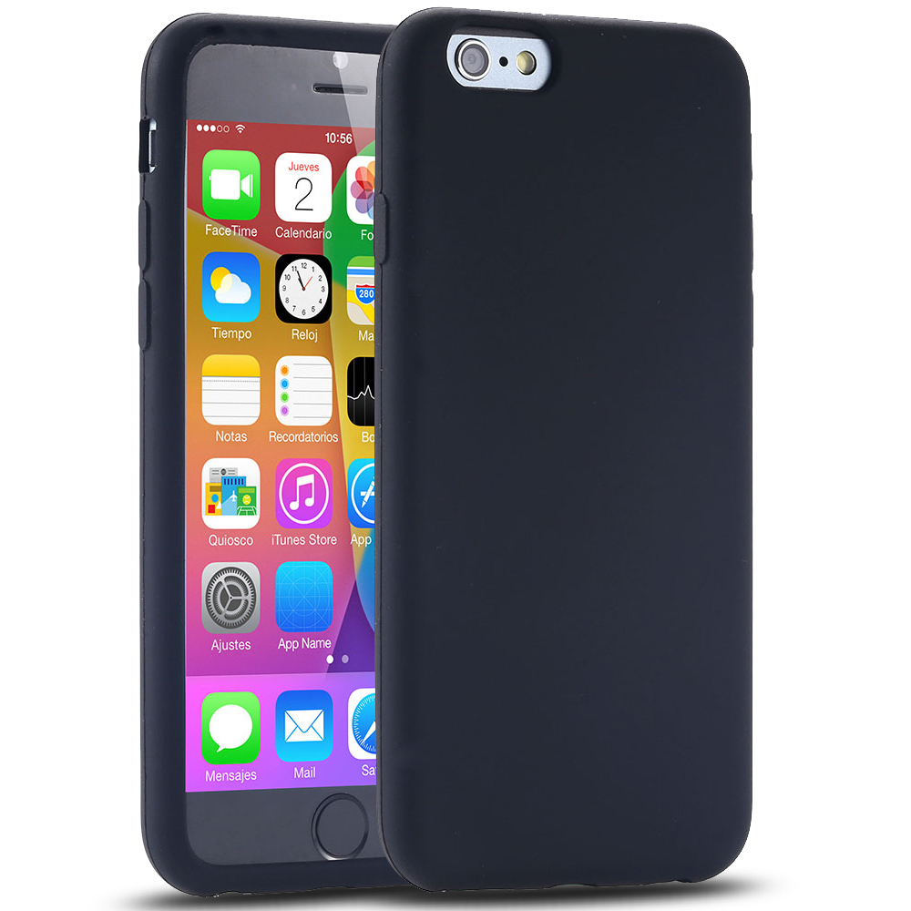 """For iPhone 6 4.7""""/Plus 5.5"""" Silicon Case Soft Rubber Gel Cover For iPhone 6 4.7inch Durable Phone Back Shell For Plus 5.5inch(China (Mainland))"""