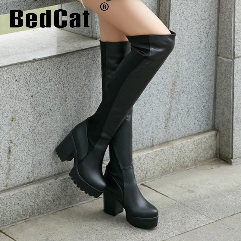 CooLcept Free shipping over knee high heel boots women snow fashion winter warm shoes boot P15176 EUR size 33-43<br><br>Aliexpress