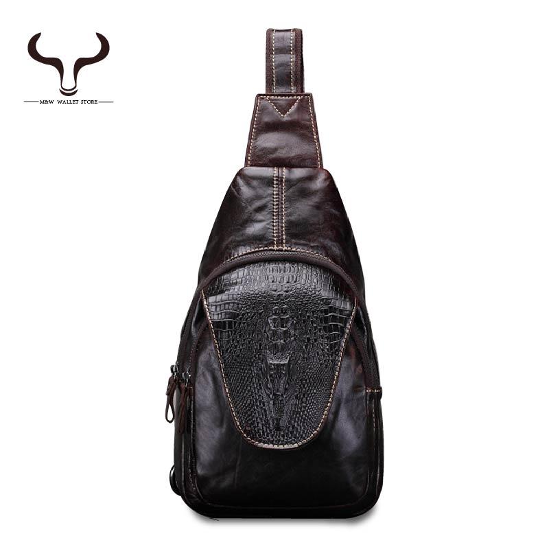 Crocodile pattern Men Genuine Leather Crossbody Bags 2016 European and American fashion design men's classic trend Shoulder Bag(China (Mainland))
