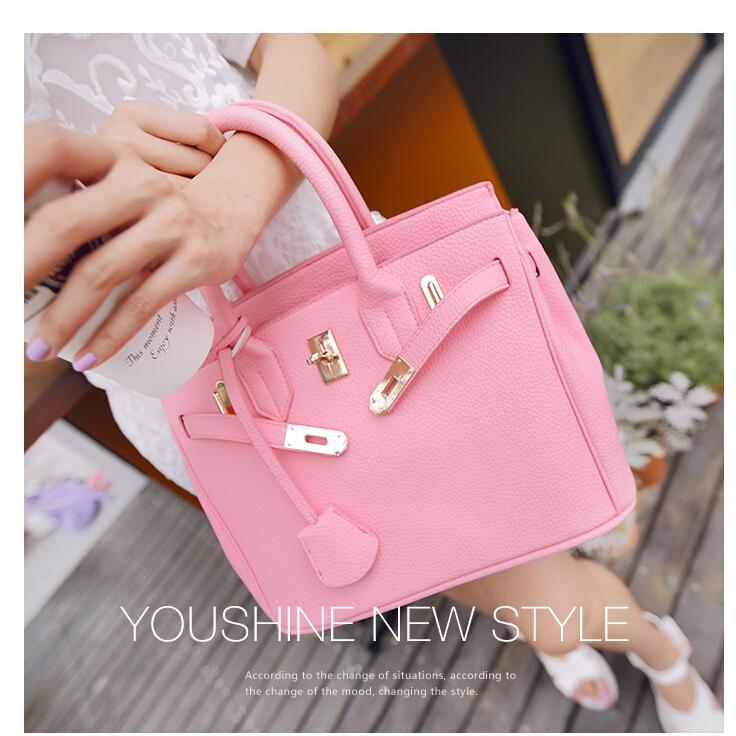 2015 Fashion platinum package popular trend hot pink handbags women messenger bright bags - fashional accessories store