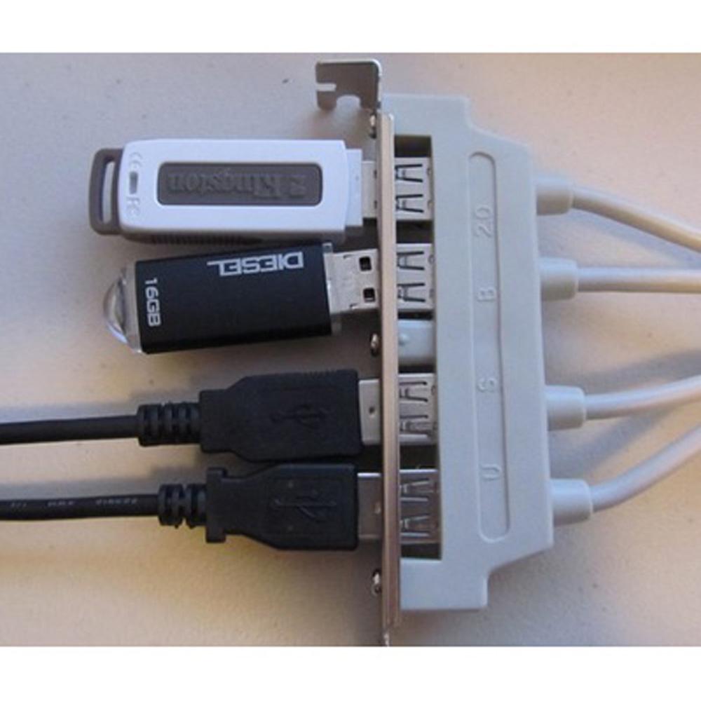 USA Stock! UK MainBoard 4 Port USB 2.0 to 9 Pin Header Bracket Extension Cable(China (Mainland))