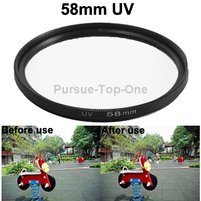 10 Pcs/Lot Professional 58mm SLR UV Filter for Digital Camera Accessories(China (Mainland))