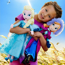 Hot sale high quality baby toy plush toy Snow Queen princess doll 40cm Anna and Elsa Brinquedos Even Olaf best toys(China (Mainland))