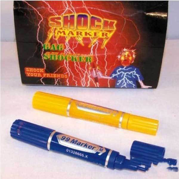 Guardfish Electric Shock Trick Gag Marker Pen Toy Joke Funny Gift(China (Mainland))