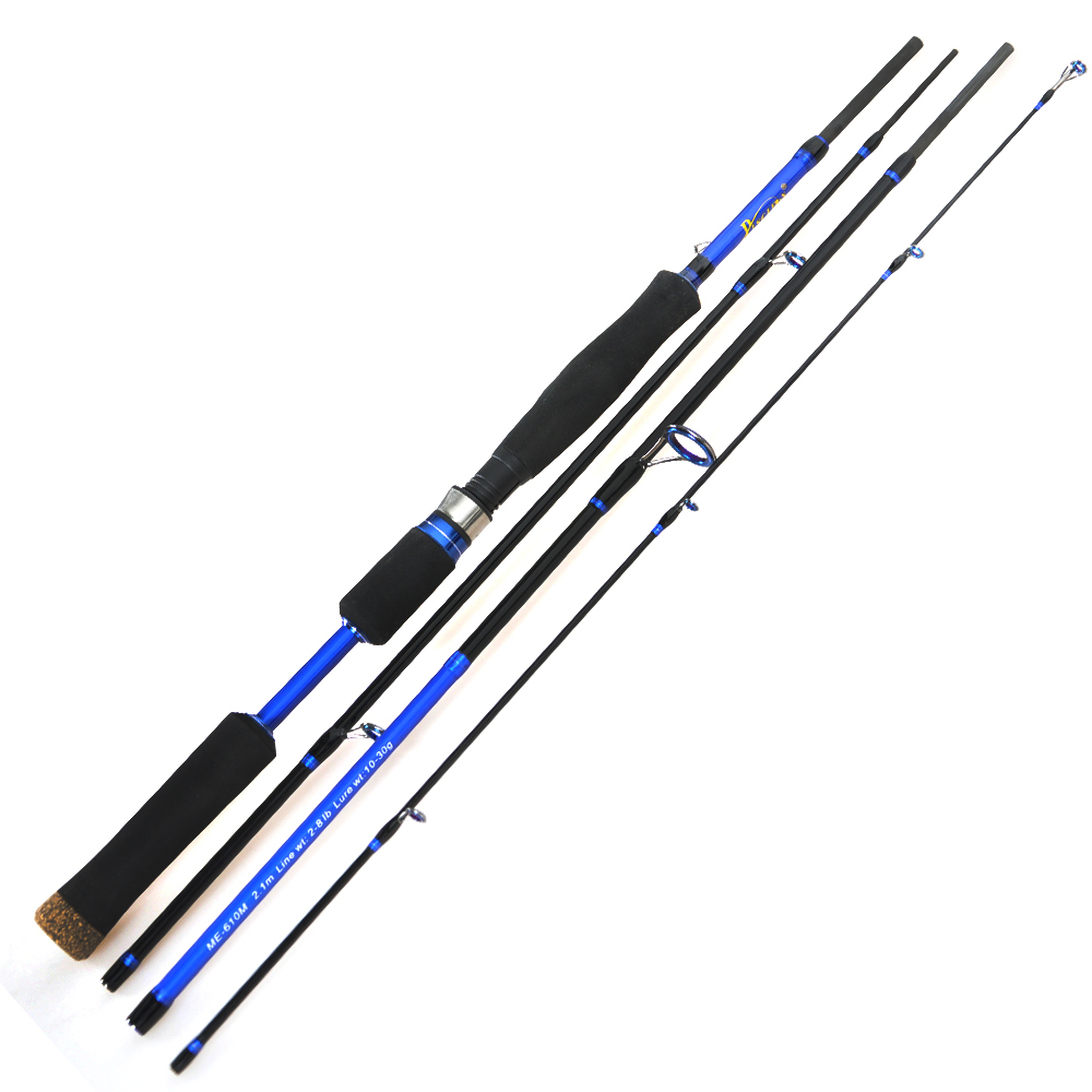 2 1 2 4 lure rod 4 section carbon spinning fishing for Carp fishing rods