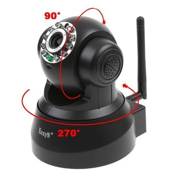 Freeshipping,EasyN Wireless IP Camera webcam Web CCTV Camera Wifi Network IR NightVision P/T With Color BOX, dropshipping