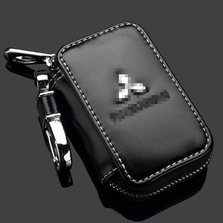 gift !Car leather car key wallet, key case ,key holder for Mitsubishi Outlander ASX Pajero Sport Lance EX car accessories(China (Mainland))