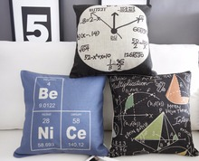 Nordic Science Watches Linen pillow cushion