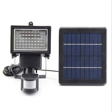 Ultra Bright 60 LEDs Motion Sensor Security Solar Light LED Flood Lamp Outdoor Garden Spotlights(China (Mainland))