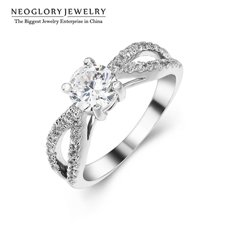 Neoglory AAA Zircon Nickel Free Engagement Charm Wedding Rings for Women Fashion Jewelry 2017 New Wedj Wedj-r SQC(China (Mainland))