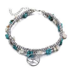 あなたはファッションウミガメ模造真珠ヒトデチャームブレスレット女性ボヘミアン夏足チェーンジュエリーギフト(China)
