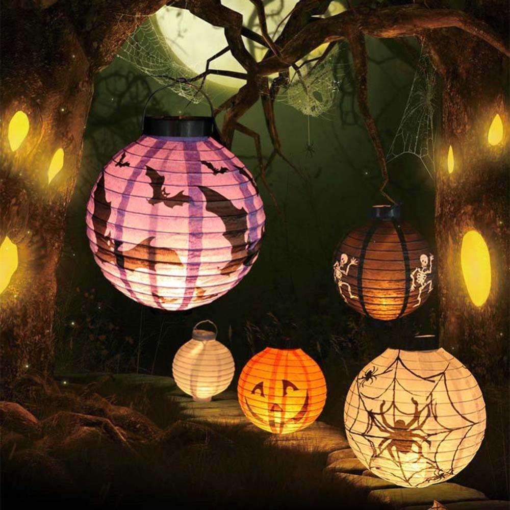 New Halloween LED Paper Pumpkin Hanging Lantern DIY - Holiday Party Decor Scary(China (Mainland))