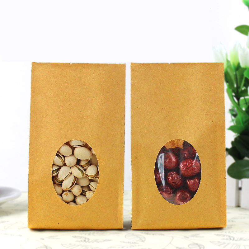10 10cm*24cm+6cm *140micron Kraft Paper Bags Candy Shopping Bag - Packaging r Store store