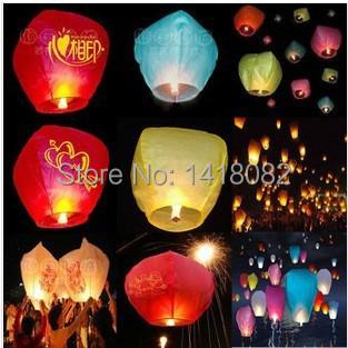 2014 high quality senior flame retardant kongmin light Wishing light sky lanterns for Christmas 10pcs /lot(China (Mainland))