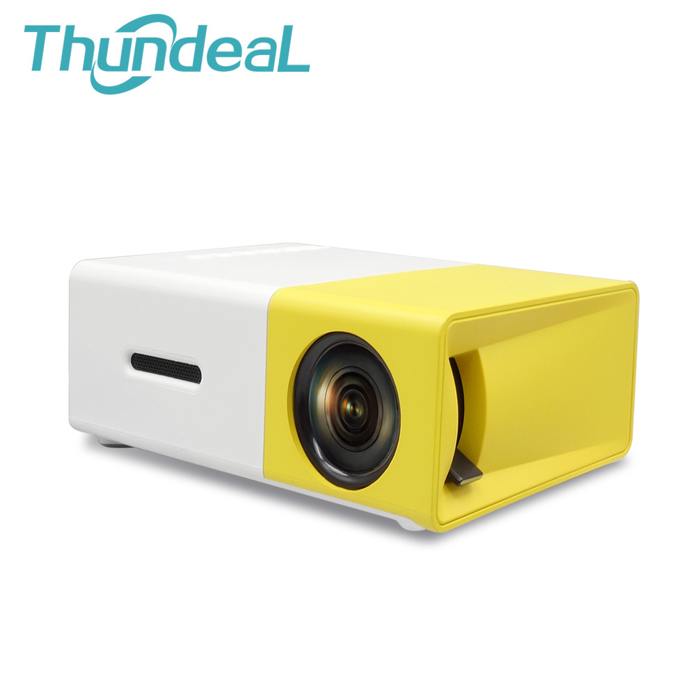 Thundeal YG300 YG-300 Newest Mini Portable Pico LED Projector SD HDMI AV SD USB Projectors Home Theater Beamer Built-in Battery