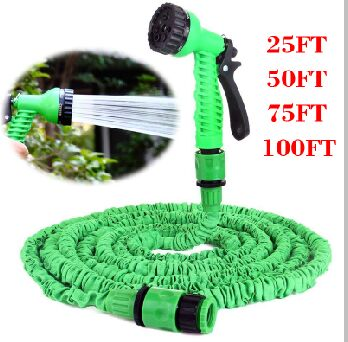 New Extensible Expandable Fit 25/50/75/100FT Magic Garden Hose With Spray