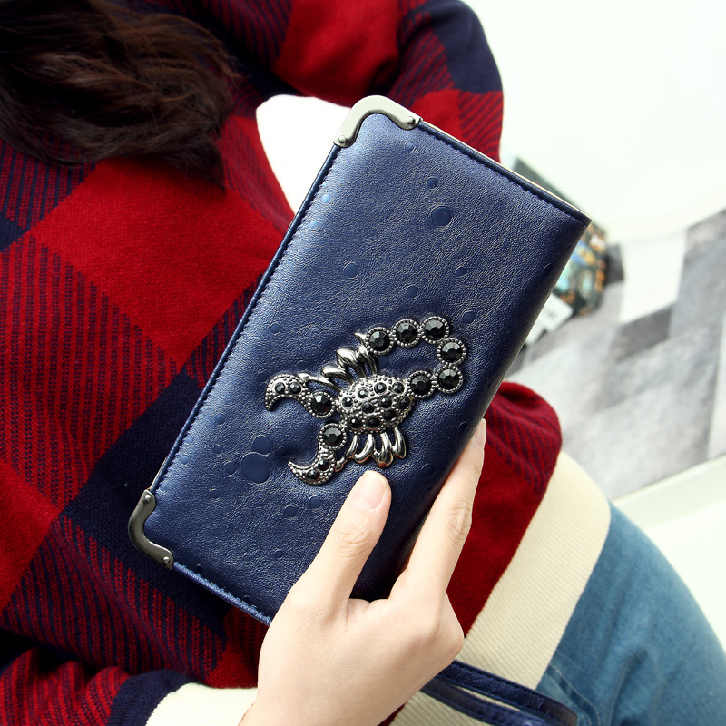 2015 New Fashion Women Wallet 3 Colors Long Wallets Popular Portable Change Purse Delicate Casual Lady Cash Purse Hot Sale(China (Mainland))