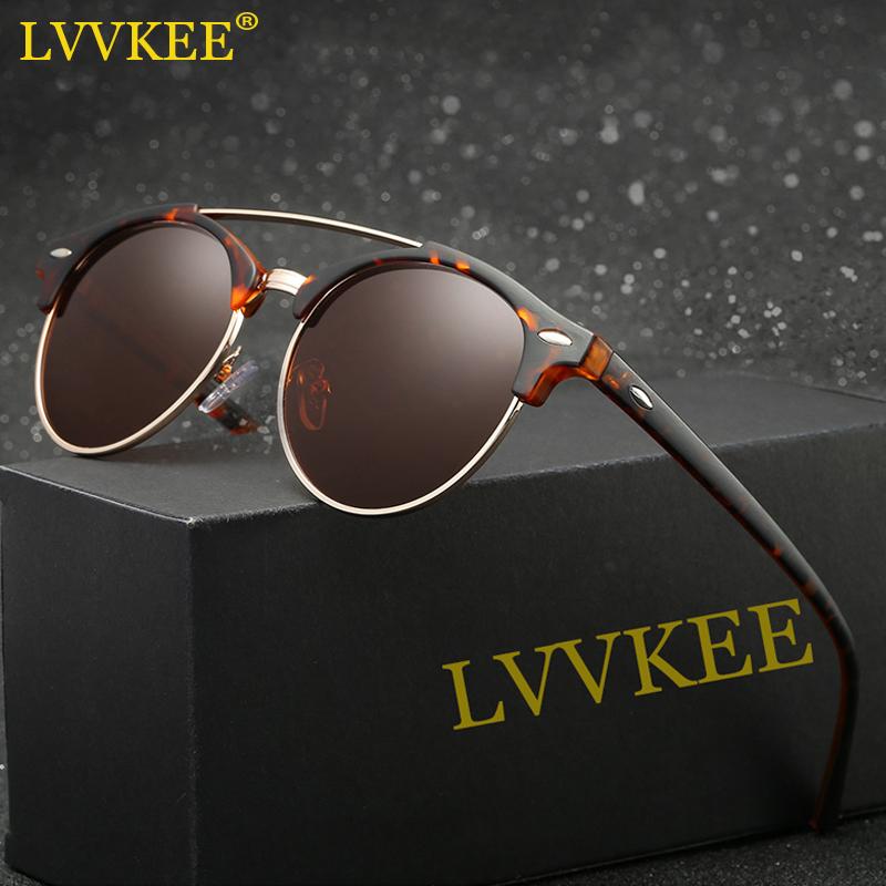 latest style in eyeglasses ldt1  2017 Latest Styles Half Frame Polarized Sunglasses Women/Men Classic Club  Mirror Sun glasses High