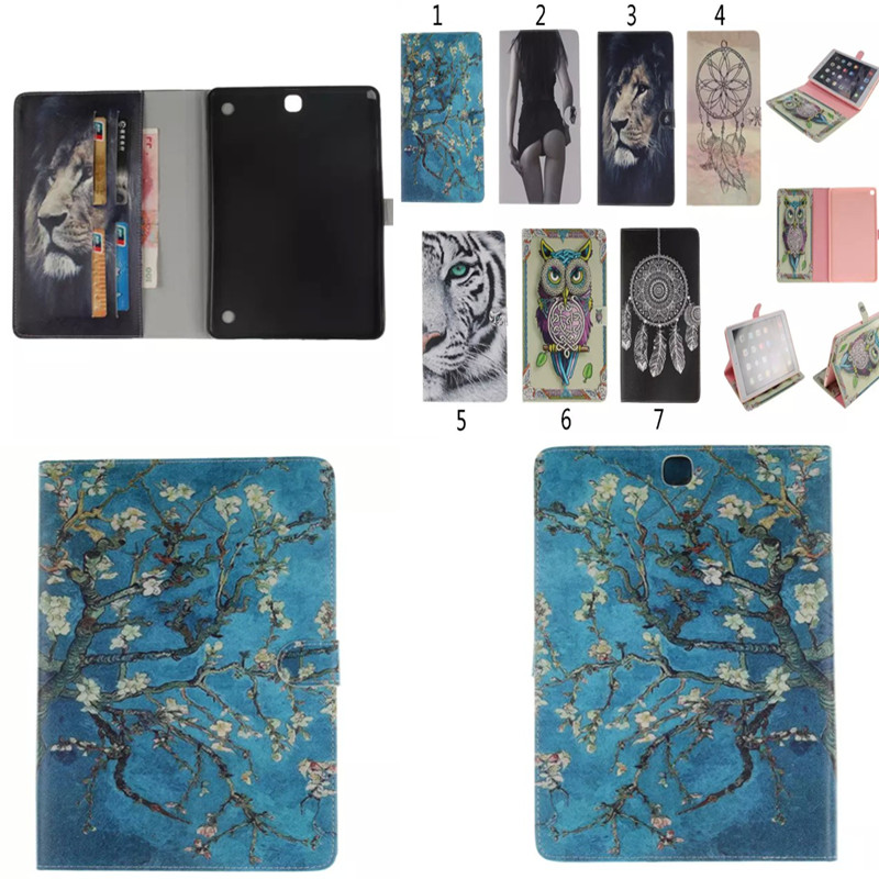Wholesale TX For Samsung Galaxy Tab A 9.7 inch T550 SM-T555 T551 Tablet Case Painting OWI Tiger Style Pu Leather Stand Cases<br><br>Aliexpress
