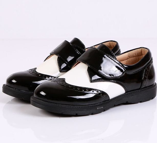 New Arrival Formal Dress Student Leather Shoes Classic Boys Black Dress Flower Show Students Shoes 2colors(China (Mainland))
