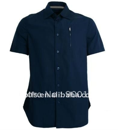 men's new style black slim fit casual shirt