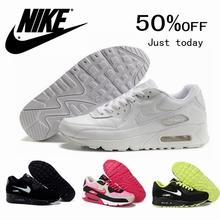 2016 hot women 90 black white gray casual shoes free shipping maxings size 36-40(China (Mainland))