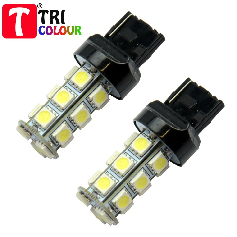 DHL FREE + Wholesale 300pcs/lot!!! T20 7440 7443 18 SMD 5050 Car Stop Backup light Turn signal light White Blue 12V#LD05<br><br>Aliexpress
