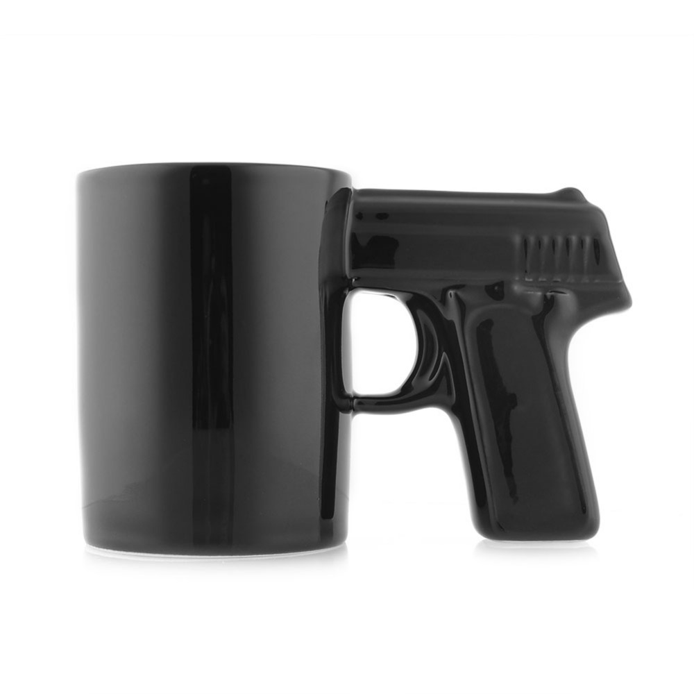 Personalized Gun Shaped Ceramic Tea Cups Novelty Pistol