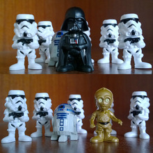 7pcs/set A&B 2015 New Star Wars Action Figure Toys Darth Vader Stormtrooper PVC Model Action Toys