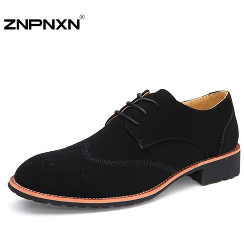 Handmade Genuine leather oxford shoes for men dress shoes autumn spring top quality ZNPNXN brand Loafers men flat shoes sapatos<br><br>Aliexpress