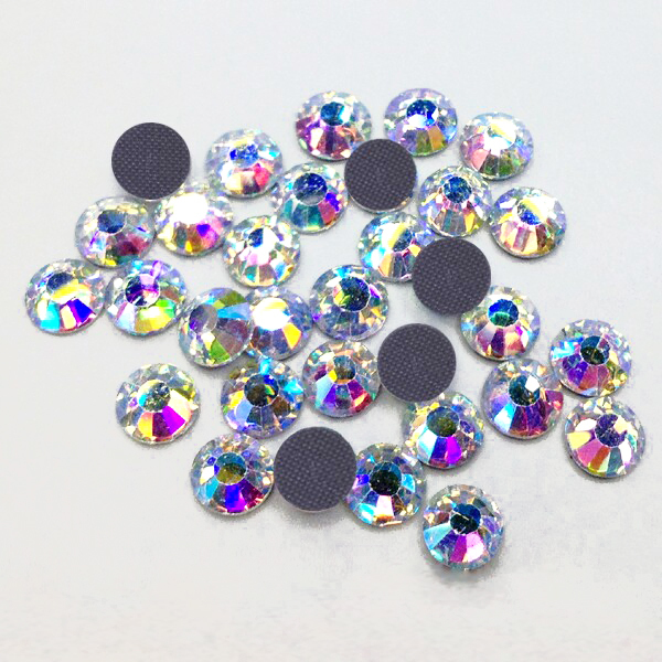 3mm SS10 Gold Light Crystal AB High Quality Hotfix Rhinestones Loose 1440pcs For Clothes(Hong Kong)