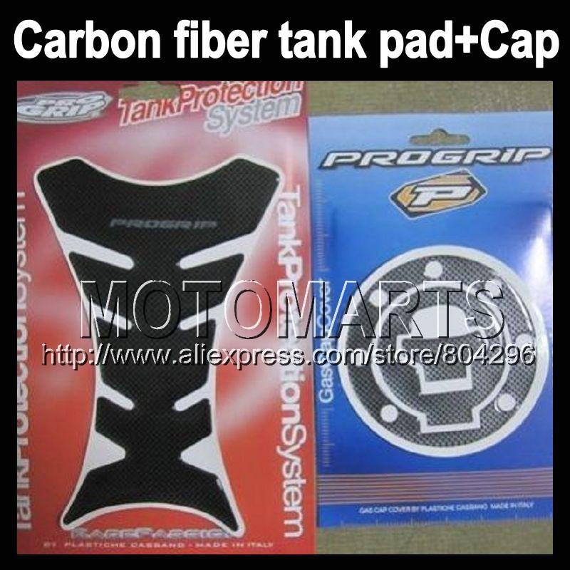 Carbon Fiber Tank Pad Protector HONDA CBR600RR 05-06 CBR600 RR F5 CBR 600RR 600 05 06 2005 2006 + Cap sticker - Motomarts store