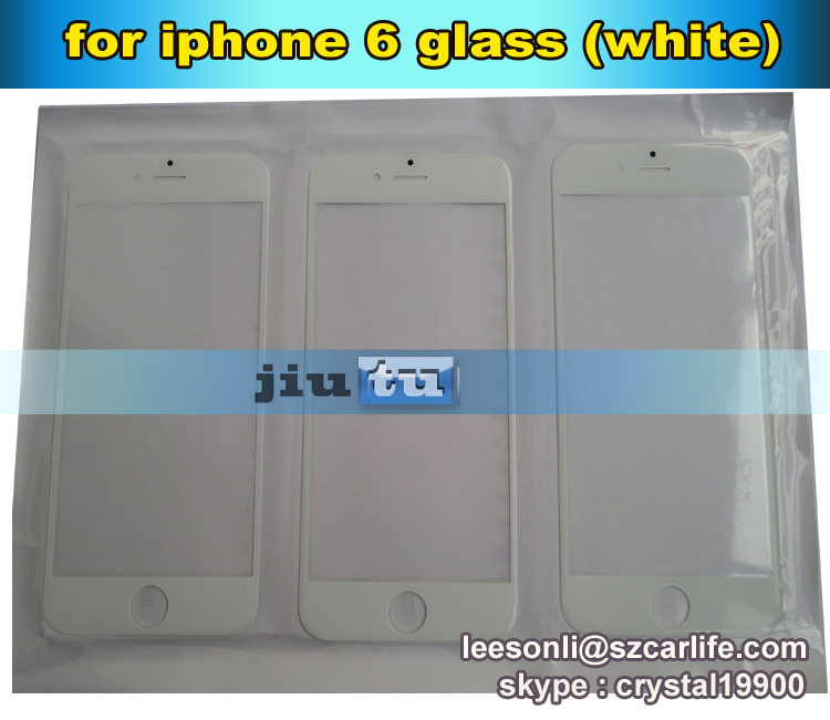 Original front panel glass For apple iphone 6/6G Outer Panel Front Glass Lens Cover Sreen for lcd repair fix 10pcs/lot(China (Mainland))