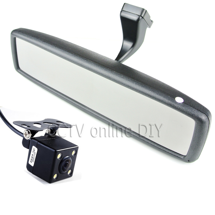 "Brand New 4.3"" TFT-LCD Special Rear View Mirror Car Monitor with Bracket + CCD HD Night Vision Rear View Back Up Camera(China (Mainland))"