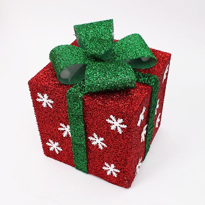 comprar decorativos de regalo cajas de plstico bellamente dobl colorido caja de regalo navidad luminosa decoracin de navidad caja de caja