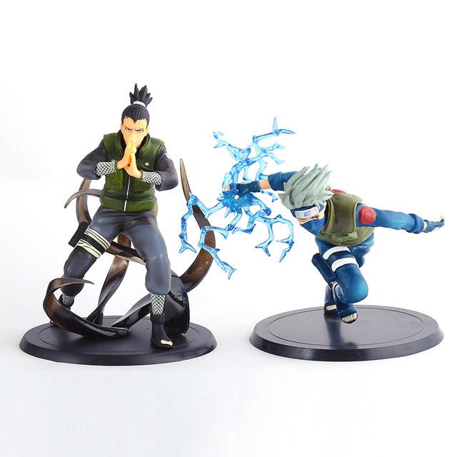 Бесплатная Доставка аниме Наруто Какаши и Шикамару ПВХ Фигурку Игрушки модель