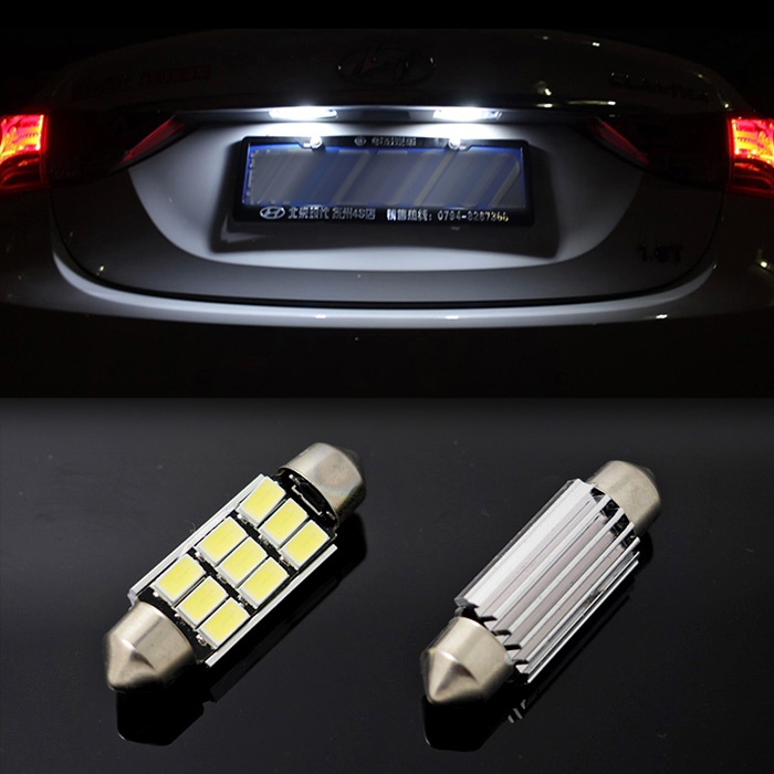 100pieces/lot Festoon c5w 41mm 9led 5630 smd CANBUS Error Free auto Dome Lights reading Lamps bulbs 12V 6000k xenon white <br><br>Aliexpress
