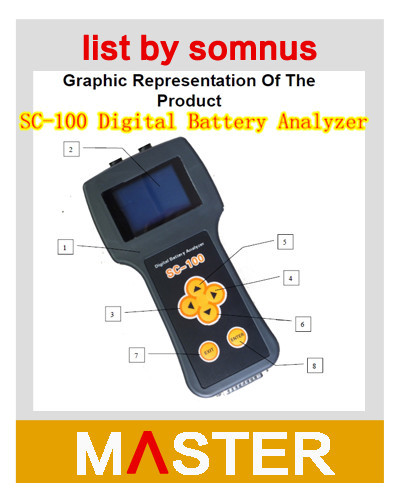 Wholesale :SC-100 Car Digital Battery Analyzer With LCD Display For 12V Car Battery Test Made In China(China (Mainland))