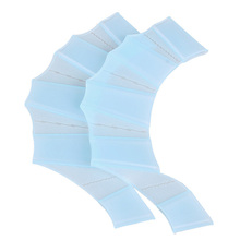 1 Pari of Silicone Hand Swimming Fins Flippers Fast Finger Gloves Web Paddle Blue S Free Shipping(China (Mainland))