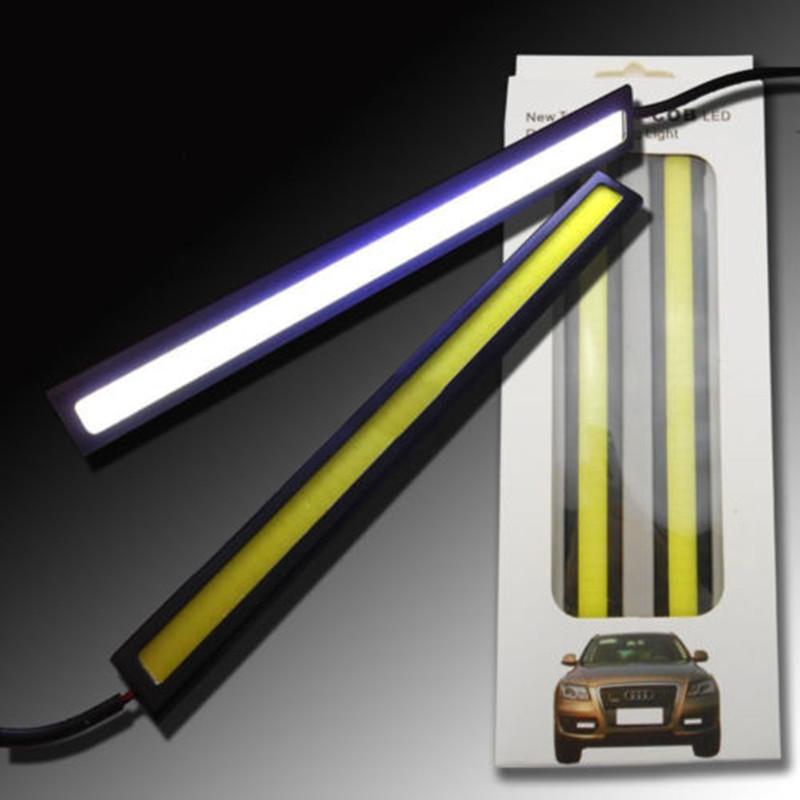 Гаджет  100% Waterproof Ultra-thin 20W COB Chip LED Daytime Running Light LED DIY DRL Fog car lights car day running lights 2PCS/1pair None Автомобили и Мотоциклы