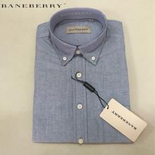 Spring and Autumn New men's Business shirt BANEBERRY brand cotton shirt plaid shirt men long sleeve shirts Large size XS-3XL(China (Mainland))
