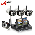ANRAN Plug And Play 4CH CCTV System Wireless 7 Inch LCD Screen NVR P2P 720P HD