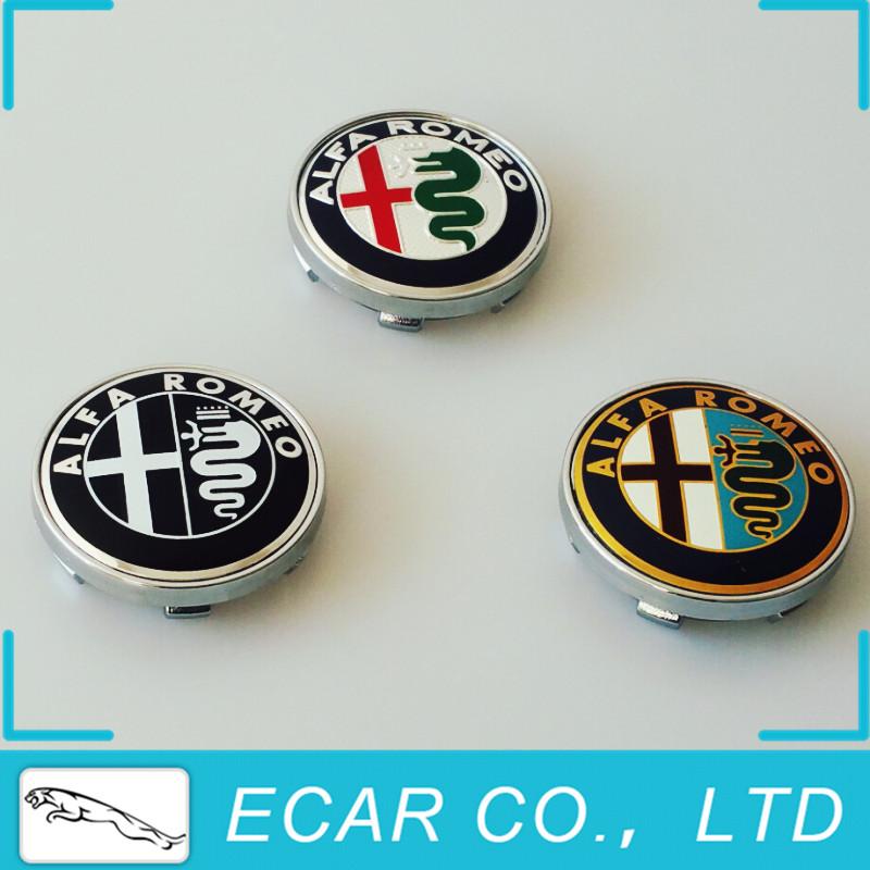 Alfa Romeo 60mm Wheel Caps With Badge / Logo / Emblem Set Of 4(China (Mainland))