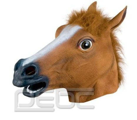 Novelty Creepy Horse Halloween Head latex Rubber Horse head mask Prop Party Horse Mask Offering Discounts silicone mask(China (Mainland))