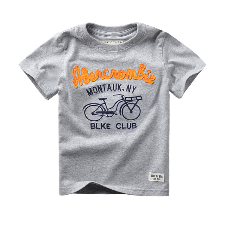 2016 Summer Kids Boys T-shirt Washing Cotton Tee Top Letter Bike Design T shirt Children Clothing For 2T 3T 4T 5T 6T boy(China (Mainland))
