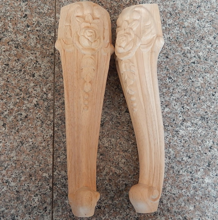 Dongyang Wood Carving Solid Wood Furniture Legs Fashion Dressing Table Legs Chair Cabinet Feet