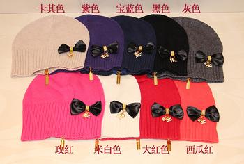 Elisabetta franchi women's hat knitted hat winter thermal zipper rabbit hair wool blended fabric hat