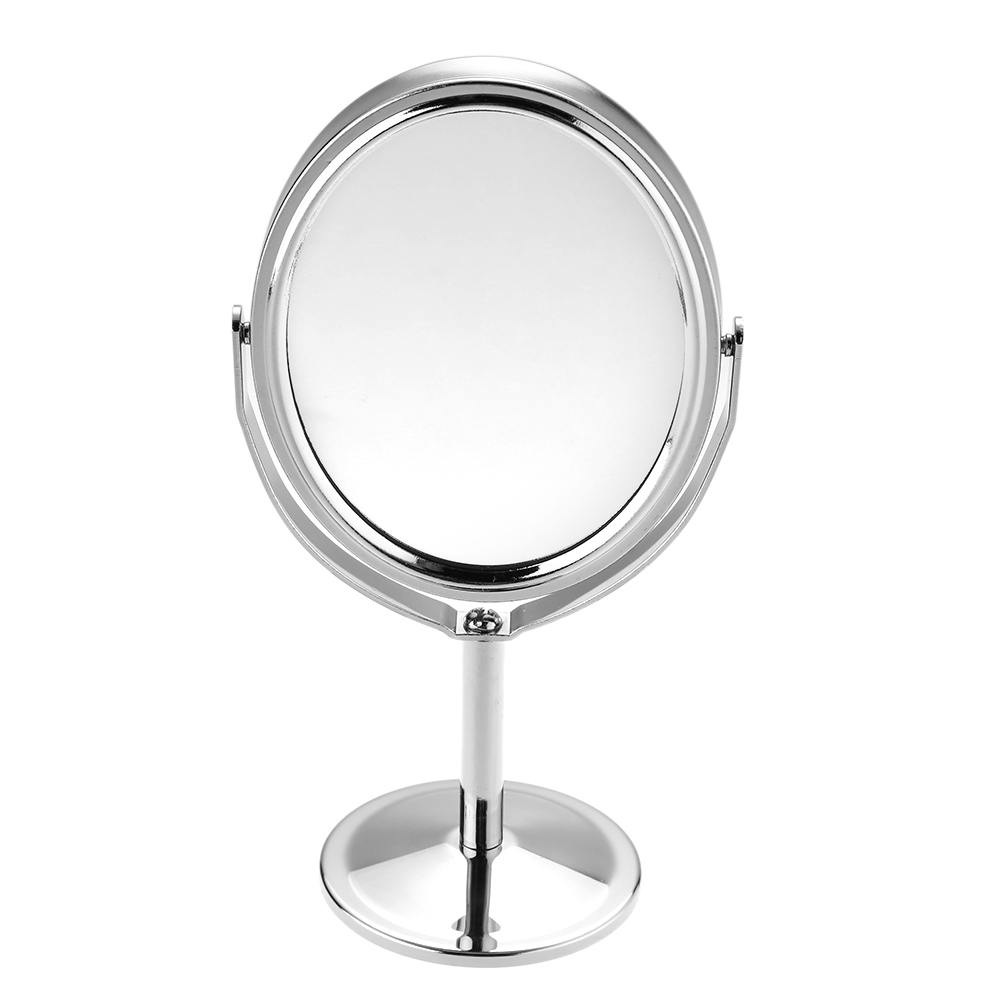 Women Beauty MakeUp Mirror Dual Side Normal+Magnifying Oval Stand Compact Mirror Cosmetic Mirror Makeup Tools 3 inch(China (Mainland))