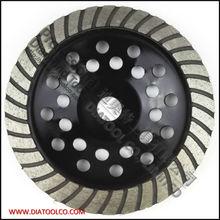 180 мм алмаз турбо ряд чашка для конкретного и кладки, Диаметр 7 дюймов, Диаметр 22.23 мм, Спеченный турбо шлифовального круга