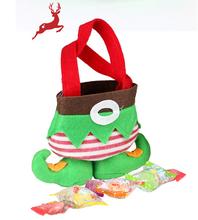 Christmas elf present bag with feet cloth gift bag Christmas ornament gift bag Christmas items supplies free shipping(China (Mainland))